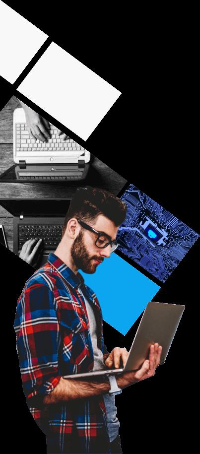 professional male IT developer